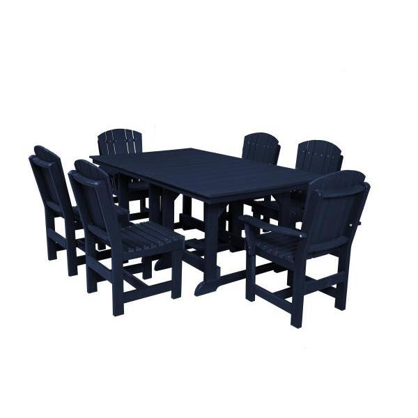 Little Cottage Co. Table, 4 Dining Chairs, 2 Arm Chairs Dining Set Patriot Blue