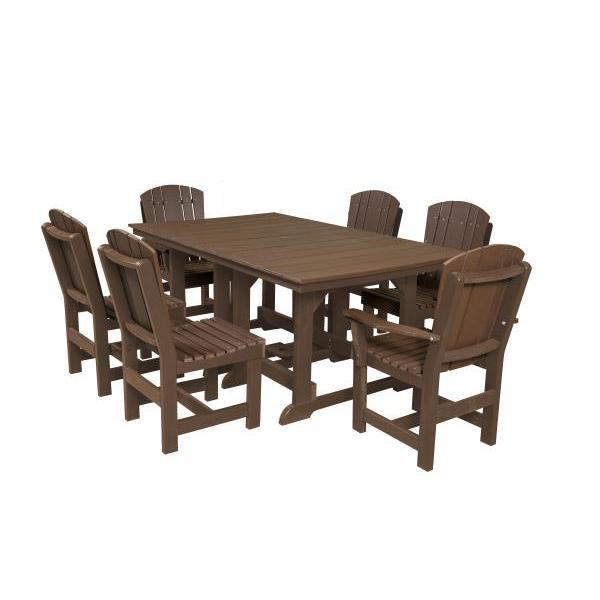Little Cottage Co. Table, 4 Dining Chairs, 2 Arm Chairs Dining Set Tudor Brown