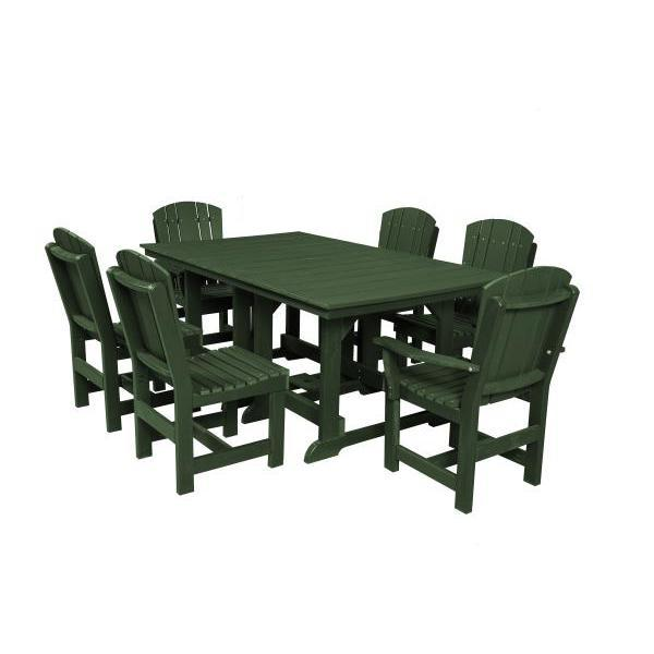 Little Cottage Co. Table, 4 Dining Chairs, 2 Arm Chairs Dining Set Turf Green