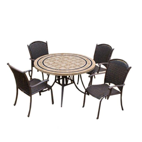 Marquesas 5Pc Dining Set with Swivel Rockers Dining Set