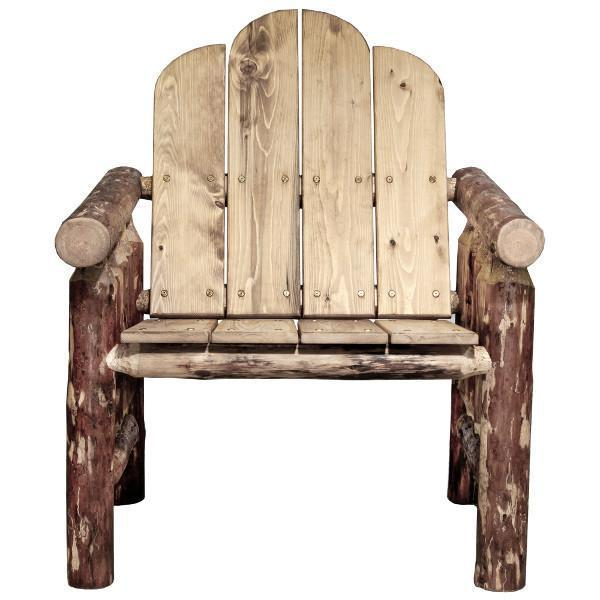 Montana Woodworks Glacier Country Log Deck Chair Outdoor Chairs