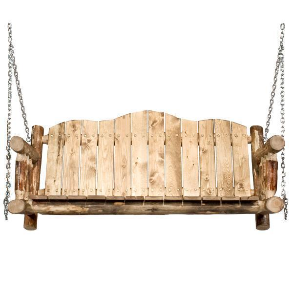Montana Woodworks Glacier Country Log Porch Swing Porch Swings No