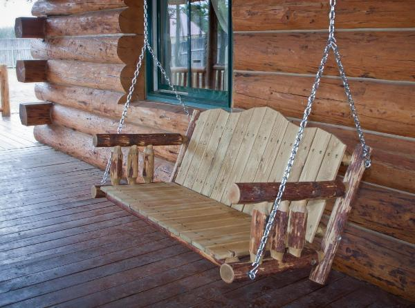 Buy The Montana Woodworks Glacier Country Log Porch Swing