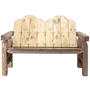 Montana Woodworks Homestead Deck Bench Garden Benches Exterior Stain Finish