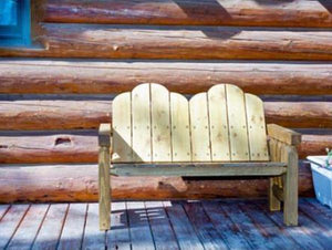 Montana Woodworks Homestead Deck Bench Garden Benches Ready to Finish