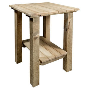 Montana Woodworks Homestead Exterior End Table Outdoor Tables Exterior Stain Finish