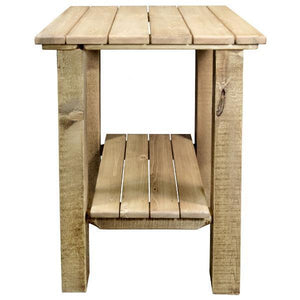 Montana Woodworks Homestead Exterior End Table Outdoor Tables Ready to Finish