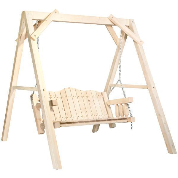 "Montana Woodworks Homestead Lawn Swing with ""A"" Frame Porch Swings Ready to Finish / No"