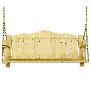 Montana Woodworks Homestead Porch Swing Seat with Chains Porch Swings Clear Exterior Finish / No