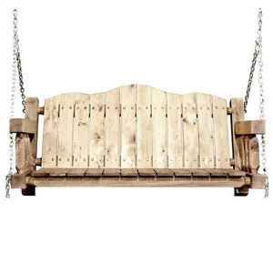 Montana Woodworks Homestead Porch Swing Seat with Chains Porch Swings Exterior Stain Finish / No