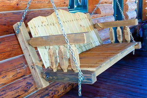 Montana Woodworks Homestead Porch Swing Seat with Chains Porch Swings Ready to Finish / No