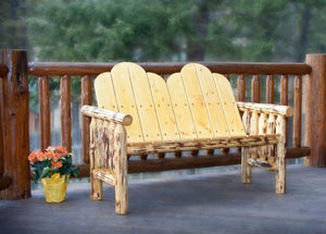 Montana Woodworks Log Deck Bench Garden Benches Ready to Finish