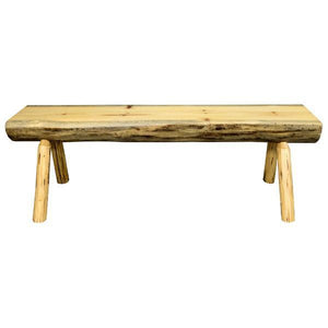 Montana Woodworks Montana Half Log Bench Garden Benches 4ft