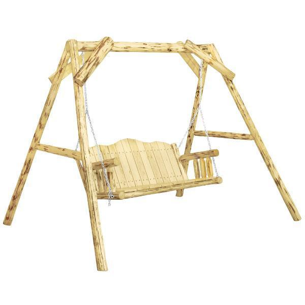 "Montana Woodworks Montana Lawn Swing with ""A"" Frame Porch Swings Exterior Stain Finish / No"
