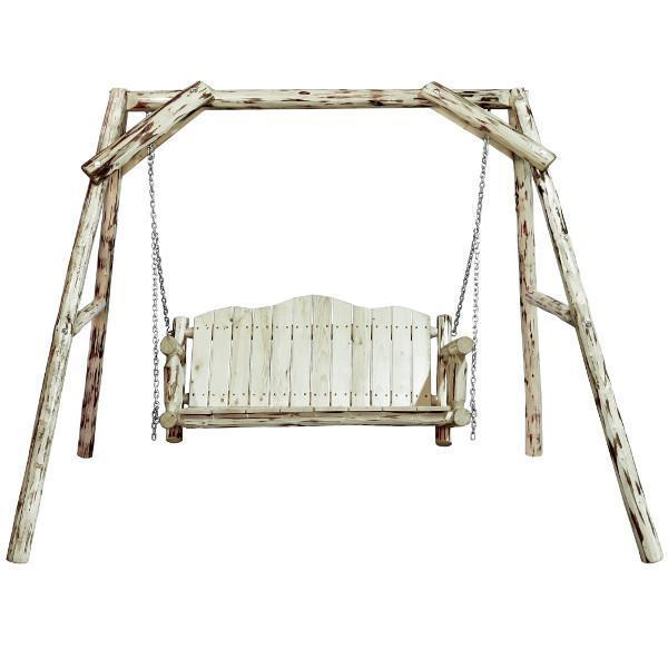 "Montana Woodworks Montana Lawn Swing with ""A"" Frame Porch Swings Ready to Finish / No"