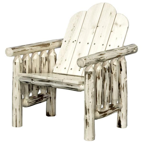 Montana Woodworks Montana Log Deck Chair Outdoor Chairs Ready to Finish
