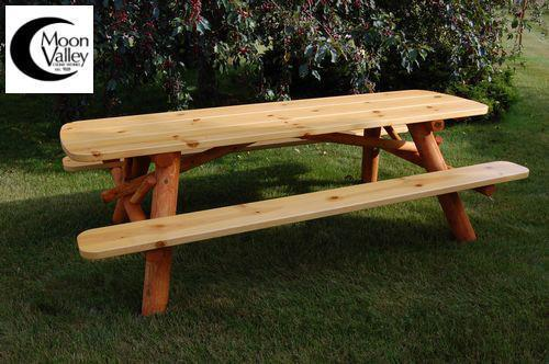 Buy The Moon Valley Cedar 5ft Log Picnic Table Oval Online