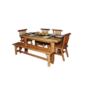 Moon Valley Cedar Works L-509 Kitchen Table Set Dining Table Unfinished