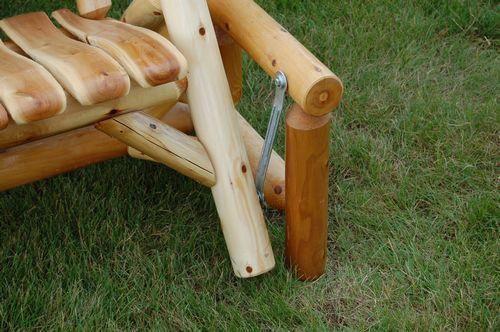 Moon Valley Cedar Works M-1620 Outdoor Settee Glider Gliders Unfinished