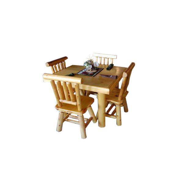 Moon Valley Low-top Breakfast Table Set—L-516 Dining Table Unfinished