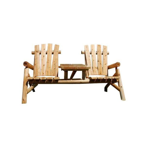 Moon Valley M-1400 Classic Outdoor Tete-a-Tete Garden Benches Unfinished