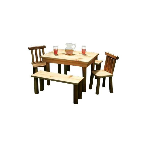 Moon Valley Nicholas Kids' Table and Chair Set Dining Table Unfinished