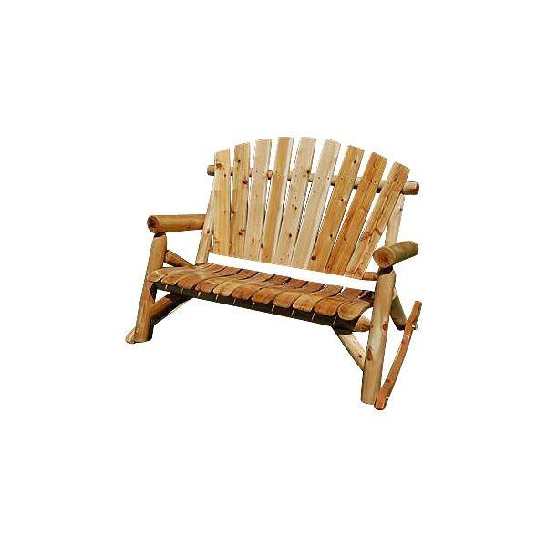 Moon Valley Rustic M-1601 Settee Rocker Adirondack Bench Garden Benches Unfinished