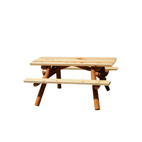 Moon Valley Rustic Nicholas Kids Picnic Table Picnic Table Unfinished