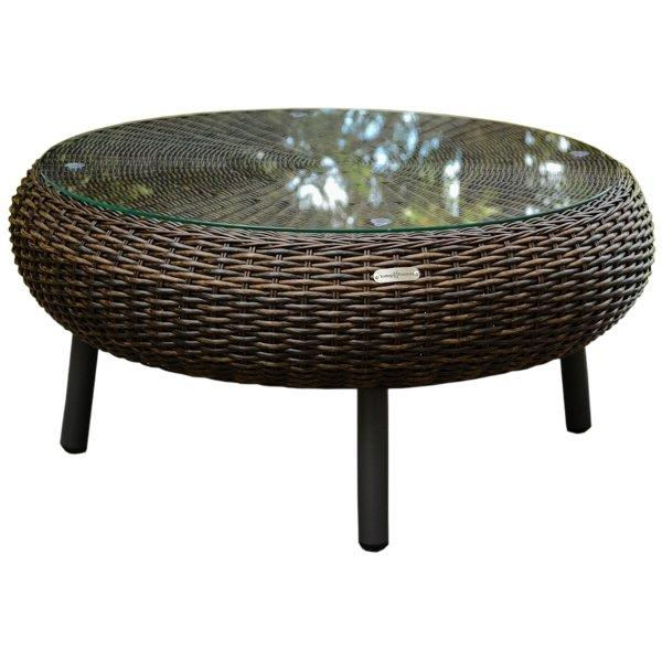 Outdoor/Indoor Round Wicker Table