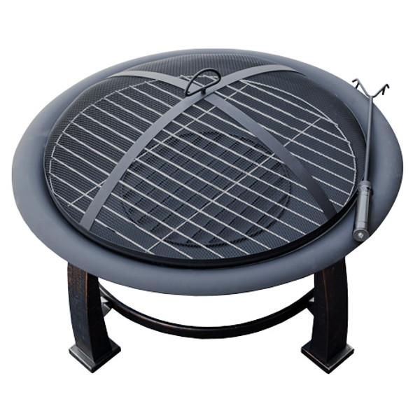 Outdoor Wood Burning Fire Pit With Cooking Grate Fire Pits