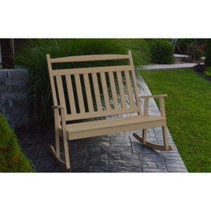A & L Furniture Poly Classic Double Rocker Weathered-Wood