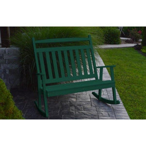 A & L Furniture Poly Classic Double Rocker Turf-Green