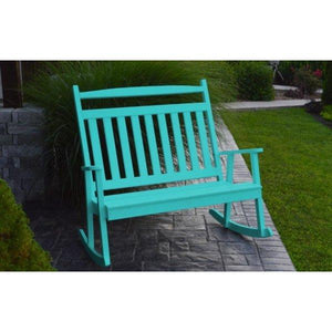 A & L Furniture Poly Classic Double Rocker Aruba Blue