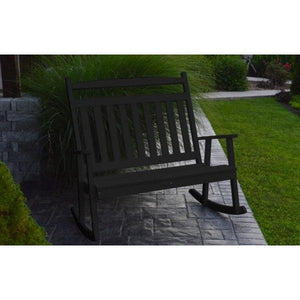 A & L Furniture Poly Classic Double Rocker Black