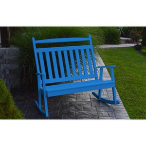A & L Furniture Poly Classic Double Rocker Blue