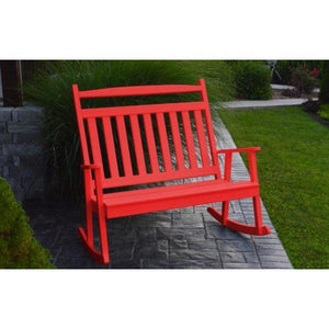 A & L Furniture Poly Classic Double Rocker Bright-Red