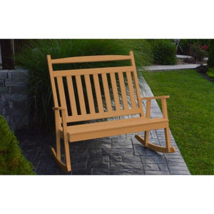 A & L Furniture Poly Classic Double Rocker Cedar