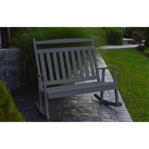 A & L Furniture Poly Classic Double Rocker Dark Gray