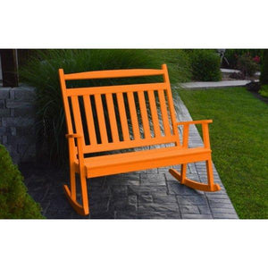 A & L Furniture Poly Classic Double Rocker Orange