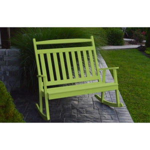 A & L Furniture Poly Classic Double Rocker Tropical-Lime
