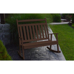 A & L Furniture Poly Classic Double Rocker Tudor Brown