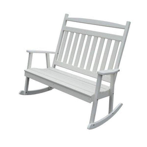 A & L Furniture Poly Classic Double Rocker White