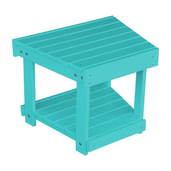A & L Furniture Poly New Hope Bench/Side Table Aruba Blue