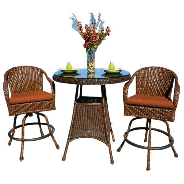 Sea Pines 3Pc Bar Set Bar Chair & table Set