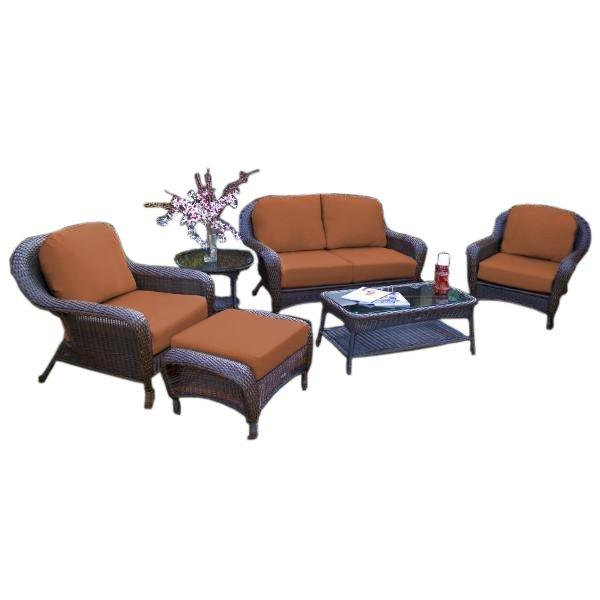 Sea Pines 6-Pc Deep Seating Set w/ Loveseat