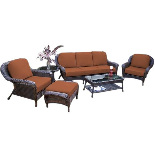 Sea Pines 6-Pc Seating Set w/ Sofa