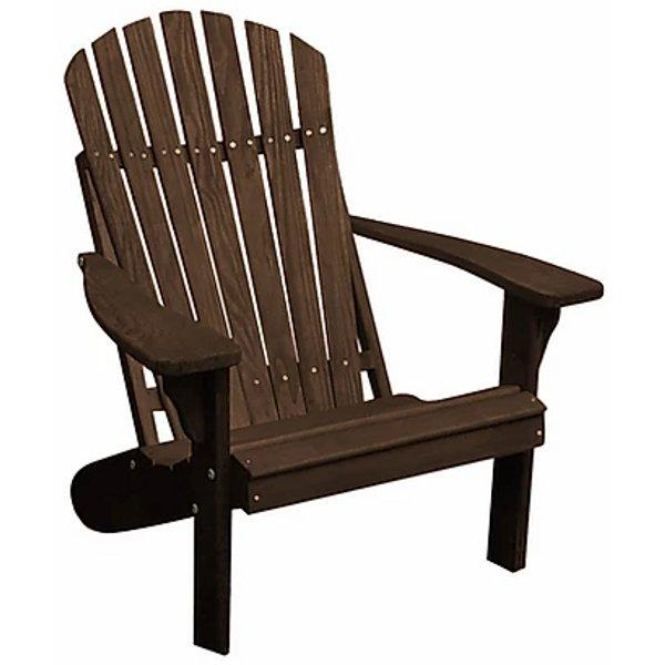 Solid Knotfree Yellow Pine Fanback Adirondack Chair