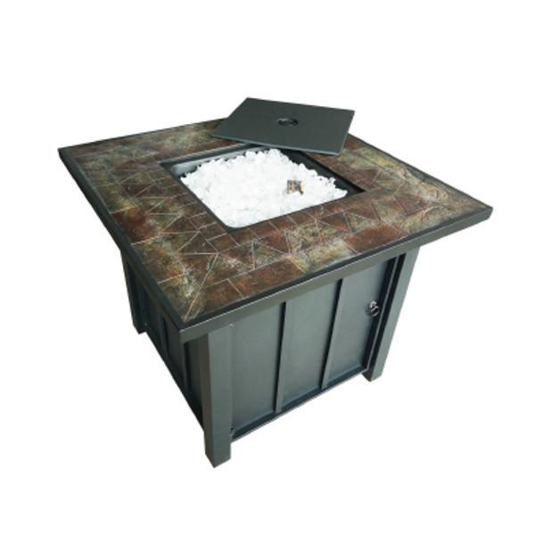Square Tile Top Propane Fire Pit Fire Pits