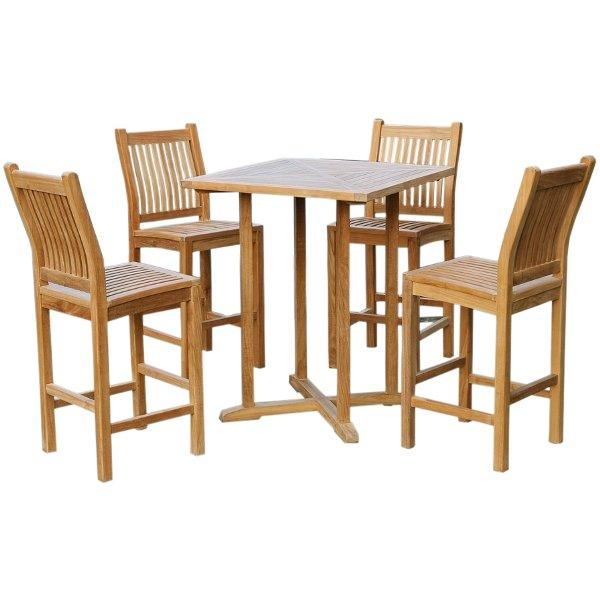 Teak 5Pc Bar Set Bar Set