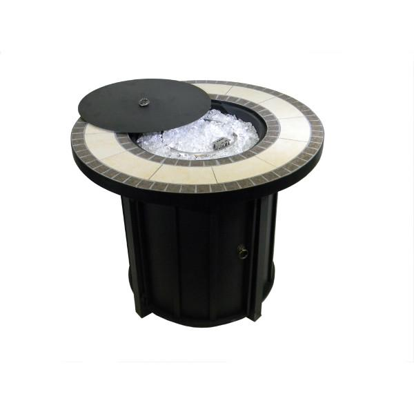 Tile Top Round Propane Fire Pit Fire Pits
